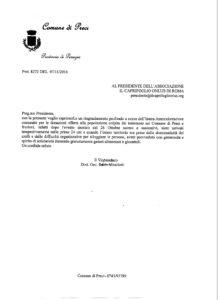 AICO LETTERA RINGRAZIAMENTO COMUNE DI PRECI (PG)